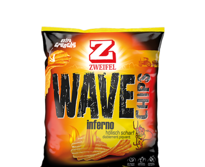 Zweifel Inferno Wave Chips - 120 g