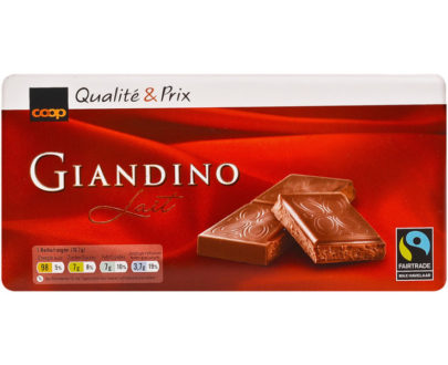 Fairtrade Giandino Milk Chocolate Bar - 100g
