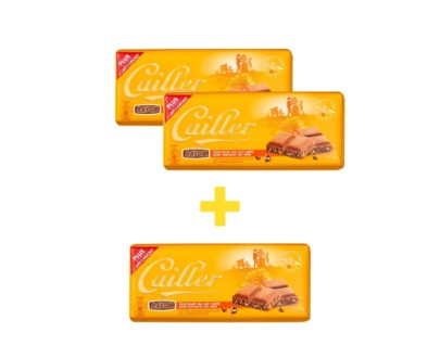 Cailler Rayon Milk Chocolate with Honey Nougat - 3 x 100g