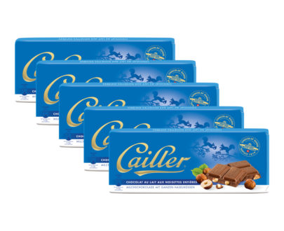 Cailler Milk Chocolate Bar with Hazelnuts - 5 x 100g
